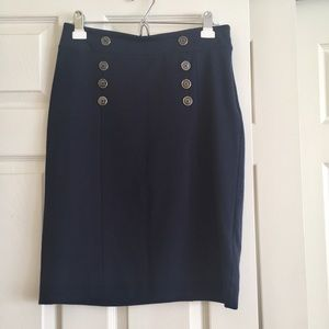 Banana Republic pencil skirt with buttons